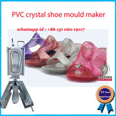 China High Heel Footwear Mold Pink Yellow Elegant Crystal Shoe Mould Maker factory