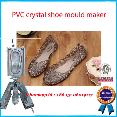 China Transparent PCU  PVC Shoe Mold Monocolor 90-100 HRC High Hardness factory