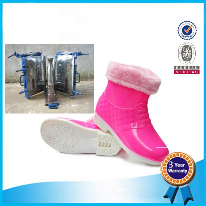 Waterproof  Rain Boots In Mold Pink Blue Comfortable Rubber Shoe Mold 5