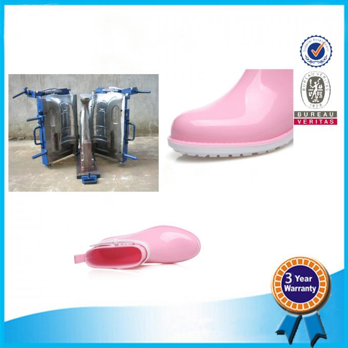 Waterproof  Rain Boots In Mold Pink Blue Comfortable Rubber Shoe Mold 2